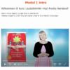 Kurs i pusteteknikk med Anette Aarsland, skjermbilde fra video, modul 1 intro